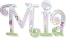 Hand painted wall letters nursery art Whimsical by J3Creations, $12.75