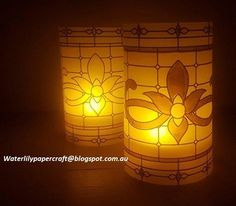 Graceful Glass Designer Vellum tealight