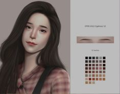 GOPPOLS Me: F-Eyebrows G2 Los Sims 4 Mods, Sims 4 Cas Mods, Sims 4 Body Mods, Sims 4 Cc Makeup, Sims 4 Asian Makeup, The Sims 4 Skin, Best Sims, Sims 4 Characters, Sims 4 Cc Packs