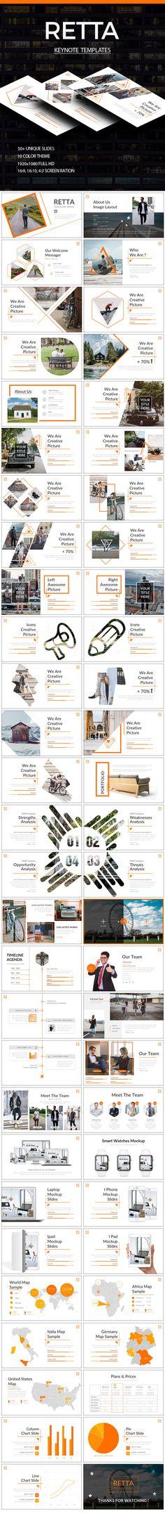 RETTA Powerpoint Template (PowerPoint Templates) - Stunning Resources for designers - OrTheme Web Design, Slide Design, Page Design, Book Design, Layout Design, Layout Template, Keynote Template, Mise En Page Magazine, Design Brochure