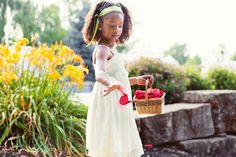 really like the idea of a picture of the flower girl in action here