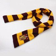 Buy Harry Potter Gryffindor House Logo Knit Wool Scarf Wrap Cosplay Costume at Wish - Shopping Made Fun Harry Potter Kostüm, Objet Harry Potter, Harry Potter Gryffindor Scarf, Harry Potter Cosplay, Harry Potter Houses, Harry Potter Birthday, Hogwarts, Gryffindor Slytherin Hufflepuff Ravenclaw, Wool Scarf