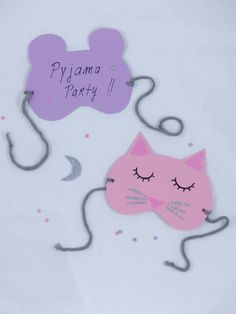 DIY Les invitations de pyjama party ! Moma le blog