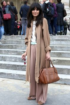 slouchy. #IrinaLazareanu in Paris.