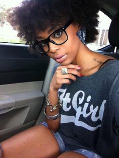 125 Best Curly With Glasses Images Natural Hair Curls Hair
