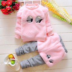 Girls' Clothing Toddler Kids Baby Girls Winter Warmth Clothes T-Shirt Tops+Pants Outfits Set Toddler Girl Outfits, Kids Outfits, Cute Outfits, Baby Girl Pants, Baby Girls, Infant Girls, Toddler Girls, Kids Girls, Animal Print Pants