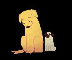 Olivia Huynh transparent dog hug pug