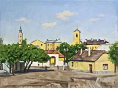 Artwork by Miklós Bánovszky, Szentendre, Made of oil on canvas Magazine Art, Art Market, Still Life, Oil On Canvas, Auction, Mansions, House Styles, City, Artwork
