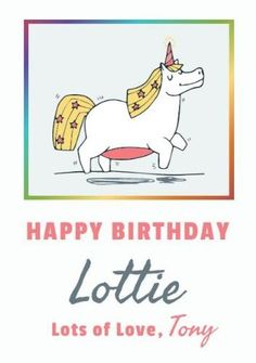 A white background with a adorable unicorn illustration framed by rainbow colors. Create your own happy birthday cards. Unicorn Cards, Unicorn Illustration, Happy Birthday Cards, Rainbow Colors, Create Your Own, Templates, Comics, Happy Birthday Greeting Cards, Rainbow Colours