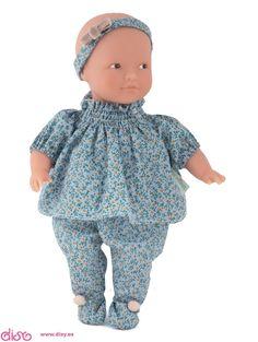 Muñecas La nina - Muñeca Anita Vestido Flores 22cm