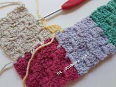 The Patchwork Heart: Gingham blanket JAYG Tutorial Graph Crochet, Crochet Cord, Crochet Beanie Pattern, Crochet Books, Crochet Bedspread Pattern, Crochet Square Blanket, Crochet Stitches Patterns, Crochet Squares, Simply Crochet