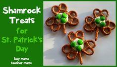 Boy Mama Teacher Mama: Shamrock Treats for St. Patrick's Day