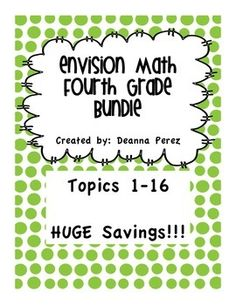 math worksheet : envision math 4th grade vocabulary cloze worksheets topics 1  20  : Envision Math Grade 4 Worksheets