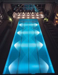 The Club On The Park Spa and Fitness Centre features a stunning 26x65 foot swimming pool at Park Hyatt Tokyo. Photo courtesy of @5staralliance.