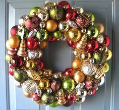 DIY? - recycled Christmas ornament wreath