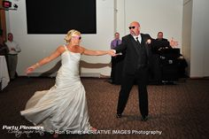 Bride dances with father.   Photo Credit- Ron Shuller Creative Images  #CincinnatiWedding #PartyPleasers Paul Brown Stadium, Father Photo, Prom Dresses, Formal Dresses, Photo Credit, Dance, Bride, Creative, Image