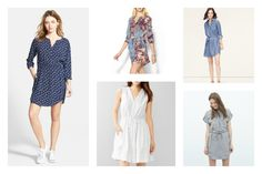 The shirtdress is taking over for spring