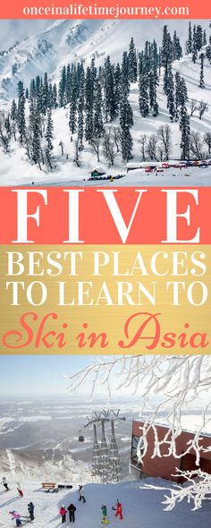 Five Best Places to Learn to Ski in Asia. Living in tropical Singapore where it's always hot, even in the winter it means that you never really think about snow. There are some places where you can celebrate winter and Christmas in Asia, but it always feels like the slopes must be very far away when, in fact, there are no shortage of options in Asia to learn to ski. Click through to find out the best places places to learn to ski in Asia. | Once in a Lifetime Journey #skiasia #learntoski…