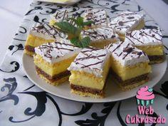 Rózsi szelet Hungarian Cake, Hungarian Recipes, Hungarian Food, Cake Bars, Cake Cookies, I Foods, French Toast, Cheesecake, Deserts