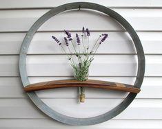 Wine Barrel Ring & Stave Wall Hanging, Flower Holder, Wedding Display, Wine…