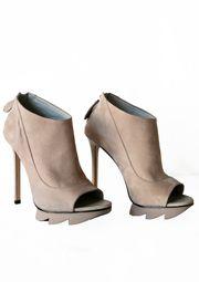 Sale Camilla Skovgaard   Open Toe Shoe Boot W/ Saw Sole by Alexandre Birman from Beige Women's Fashion Boutique