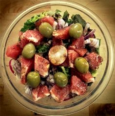 Farm Fresh Salad with Grapefruit and Fig Balsamic Dressing - vegan