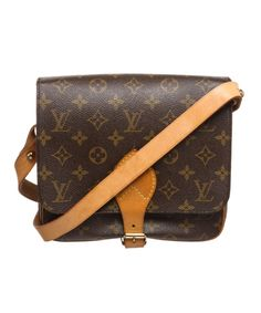 9df7cdd3b14c LOUIS VUITTON Pre Owned - Louis Vuitton Monogram Canvas Leather  Cartouchiere Mm Shoulder Bag'. #louisvuitton #bags #shoulder bags #leather # canvas #lining #