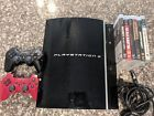 Sony PlayStation 3 PS3 Original Fat 80gb Console Bundle 6 Games 2 controllers