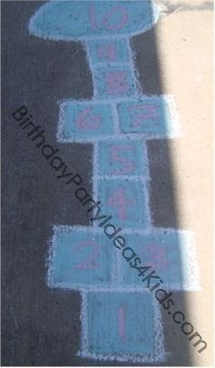 Over 30 games and activities to play with sidewalk chalk.
