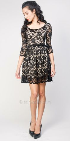 Sheer Lace Vintage Cocktail Dresses by Sentimental NY at eDressMe