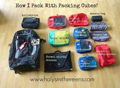 How I pack with packing cubes!