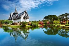 Picture of Sanphet Prasat Palace, Ancient City, Bangkok, Thailand stock photo, images and stock photography. Bangkok Thailand, Hotels In Bangkok, Thailand Travel, Thailand Honeymoon, Pattaya Thailand, Bangkok Travel, Thailand Flights, Temple Thailand, Visit Thailand