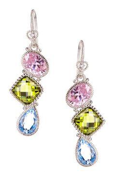 Sterling Silver Multi-Stone Drop Earrings