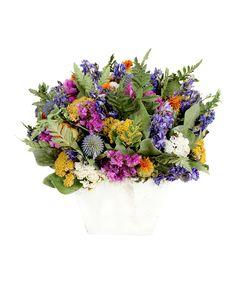 Look at this #zulilyfind! Wild Flowers Tabletop Arrangement by Floral Treasure #zulilyfinds