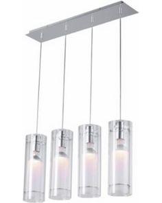 ET2 Clear Cylindrical ET2 Multi Pendant Light Fixture from LAMPS PLUS