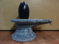Christmas Sale Artist Haat Indian Rare Black Narmada Shiva Lingam with Yonibase #ArtistHaat