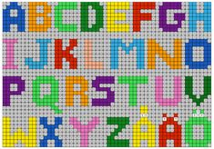 Printable on Hama Beads, Beading Patterns, Cross Stitch, Printables, Letters, Fun, A4 Paper, Artists