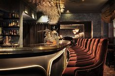 Gotthards Krog Umeå Bar | Humbert Poyet | Restaurant Interior. Interior Design. Modern Interior #interiordesign #moderndecor #restaurantinterior Read more: https://www.brabbu.com/en/inspiration-and-ideas/world-travel/stylish-modern-sofas-astonishing-restaurant-interiors