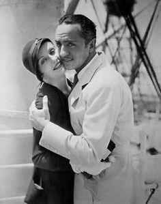 "summers-in-sunnydale: "" Carole Lombard & William Powell on their honeymoon, 1931 """
