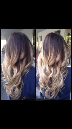 Blond ombré hair