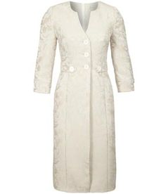 Petite Oyster Floral Jacquard Frock Coat