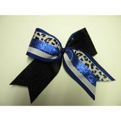 Royal Blue Cheer Bow-Cheereleading Hair Accessory-Change the color to... ($11) ❤ liked on Polyvore