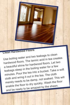 Clean hardwood floors Clean Hardwood Floors, Cleaning Wood Floors, Floor Cleaning, Cleaning Solutions, Diy Cleaning Products, Cleaning Recipes, Cleaning Hacks, Cleaners Homemade, Diy Cleaners