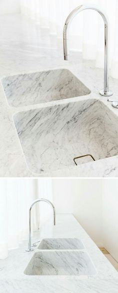 Sink of the same material as countertop