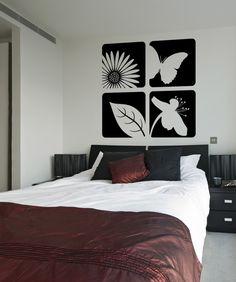 Vinyl Wall Decal Sticker Floral Designs #OS_ES112