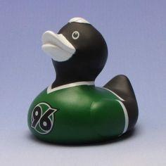 Duckshop - der Shop für Badeenten und Quietscheentchen - Hannover 96 Badeente grün