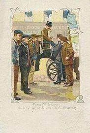 Des petits métiers à Paris en 1900, le cocher