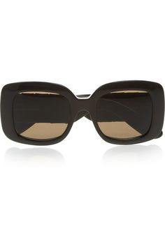 cf9814b91c4 Bottega Veneta - Square-frame acetate and intrecciato leather sunglasses