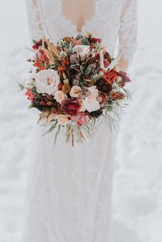 Winter Wedding inspiration at Lake Louise...by Darren Roberts: http://www.darrenroberts.ca/lake-louise-wedding/
