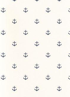 Marstrand wallpaper from Broastapeter  Is er ook in lichtroze met witte ankers...